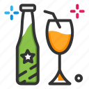 beer bottle, bottle, drink, wine