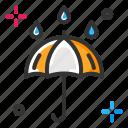 rain, umbrella, weather
