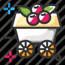 food, fruits, wagon