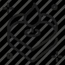 love, heart, cake icon