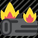 autumn, bonfire, burn, fire, firewood, thanksgiving icon