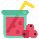 autumn, berry, compote, cup, drink, limonade, thanksgiving icon