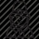 avatar, boy, man, pilgrim, thanksgiving icon