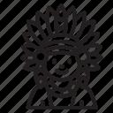 avatar, boy, man, native american, thanksgiving icon
