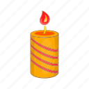 bright, burning, candle, cartoon, fire, flame, light icon