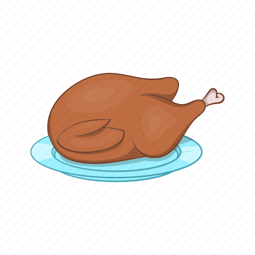 Cartoon, dish, food, meal, thanksgiving, turkey icon - Download on Iconfinder