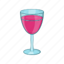 alcohol, bar, cartoon, drink, glass, red, wine icon