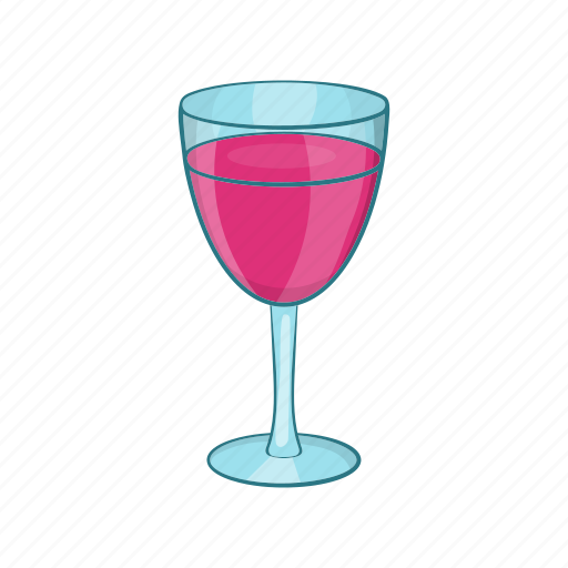 Alcohol, bar, cartoon, drink, glass, red, wine icon - Download on Iconfinder