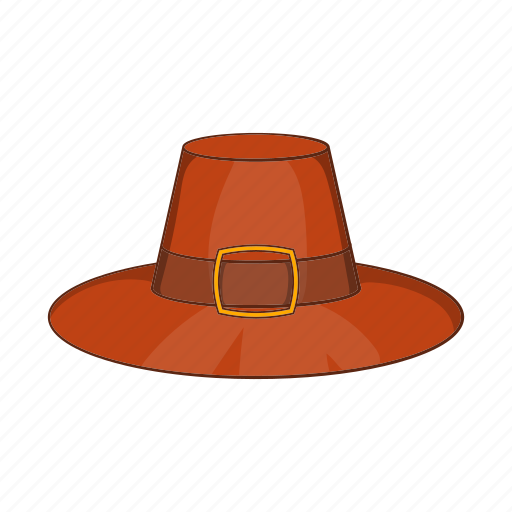 Cartoon, celebration, day, graphic, hat, holiday, pilgrim icon - Download on Iconfinder