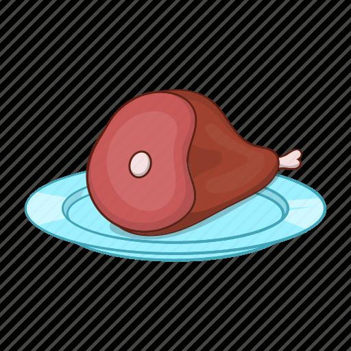 Bone, cartoon, food, gammon, ham, meal, meat icon - Download on Iconfinder