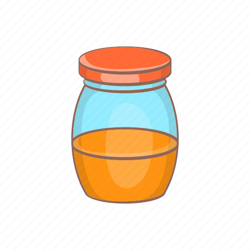 bee, cartoon, food, glass, honey, jar, sweet icon