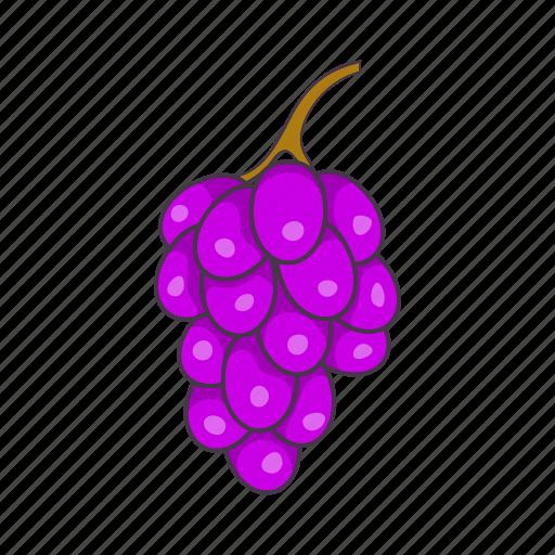 bunch, cartoon, food, fruit, grape, leaf, wine icon