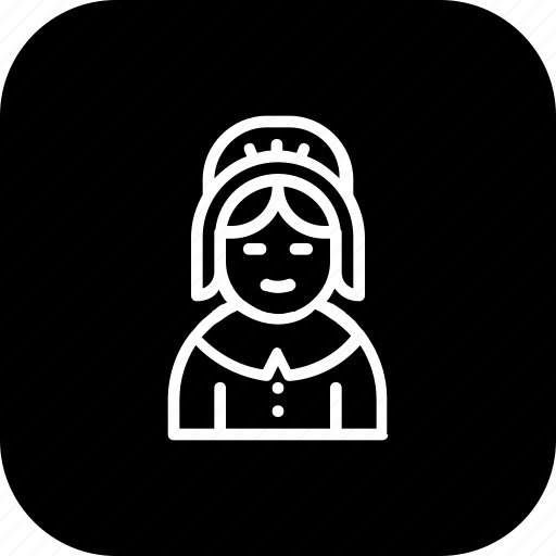 avatar, pilgrim, thanksgiving, woman icon