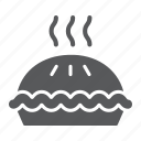 baked, cake, dessert, food, hot, pastry, pie icon