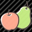 harvest, apple, pear, fruit icon