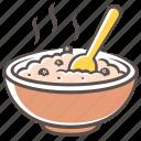 porridge, food, plate icon
