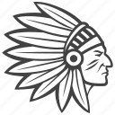 indian, feathers icon