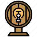alcohol, alcoholic, bar, barrel, beer, cask, drinks icon