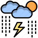 cloud, cloudy, nature, rain, sky, storm, weather icon