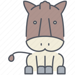 animal, ass, cattle, domestic, donkey, mule, rural icon