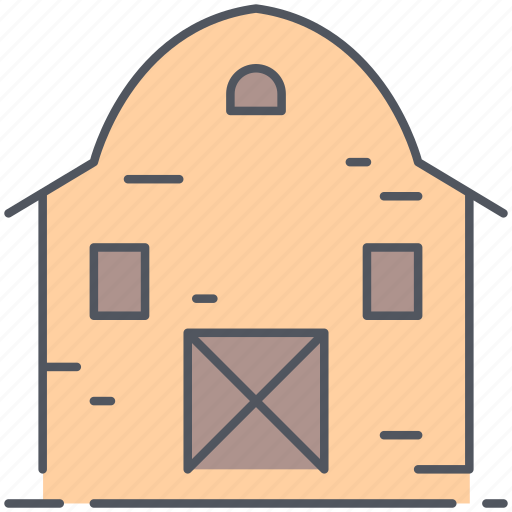 barn, farmhouse, rural, stockpile, storage, village, watehouse icon