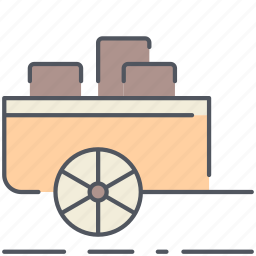 carriage, cart, delivery, rural, transport, trolley, village icon
