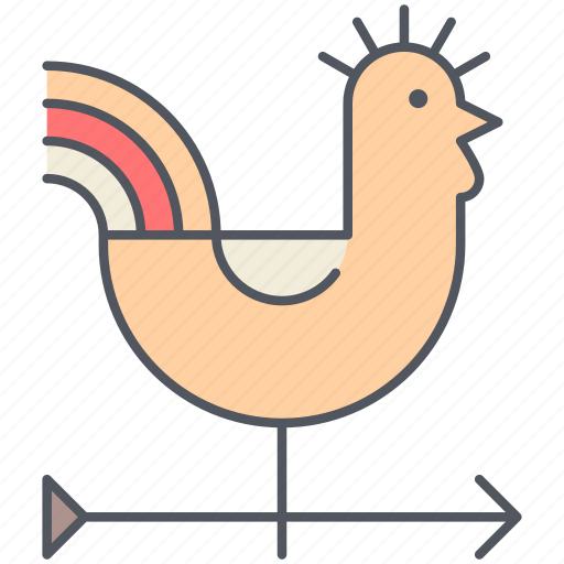 cock, forecast, rural, village, weather, wind, windy icon