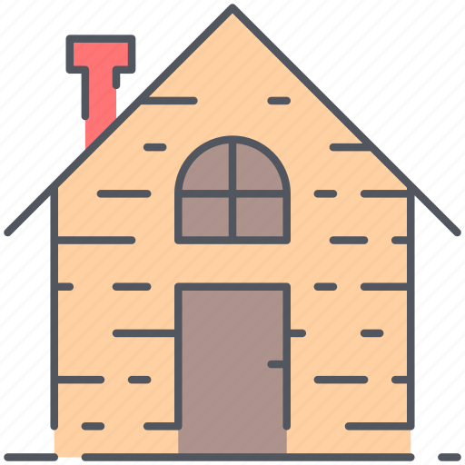 cabin, cottage, hut, lodge, retreat, rural, village icon