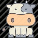 cow, animal, cattle, domestic, farming, rural, village
