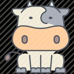 animal, cattle, cow, domestic, farming, rural, village icon