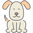 animal, dog, domestic, pet, puppy, rural, village icon
