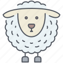 animal, cattle, domestic, farming, lamb, rural, village icon