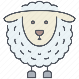animal, cattle, domestic, farming, lamb, rural, village icon