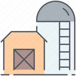 farming, rural, sillo, storage, storehouse, village, warehouse icon