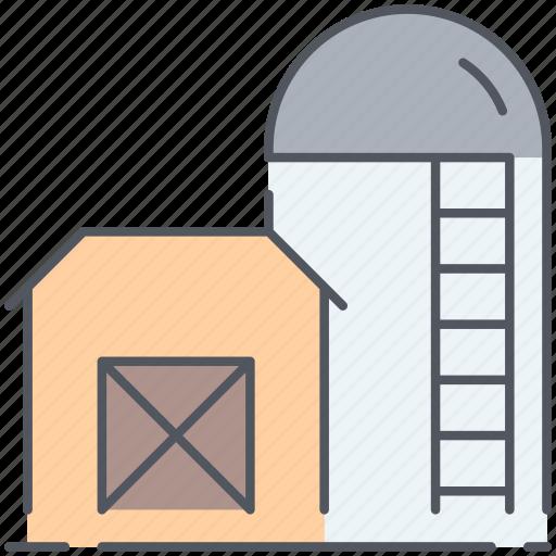 farming, rural, sillo, storage, storehouse, village, warehouse icon