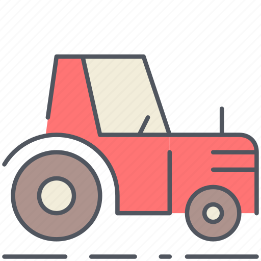 agriculture, cultivation, farming, garden, rural, tractor, village icon