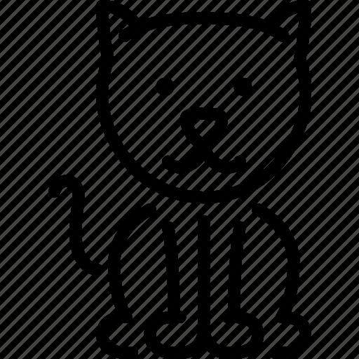 animal, cat, domestic, pet, rural, village icon
