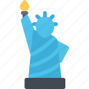 statue, of, liberty, flag, country, location, place