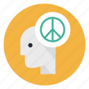 head, human, mind, peace, peaceful, person, think icon