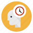 alarm, head, mind, think, time, wait, waiting icon