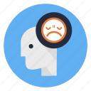 angry, annoyed, bored, irritable, mad, nervous, repine icon