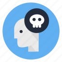bad, dead, deadline, human, mind, psycho, sick icon