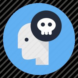 bad, dead, deadline, human, mind, psycho, sick icon