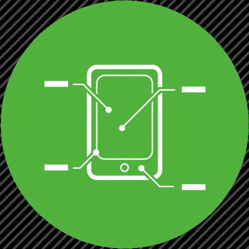 analysis, anatomy, diagram, how to, manual, smartphone icon