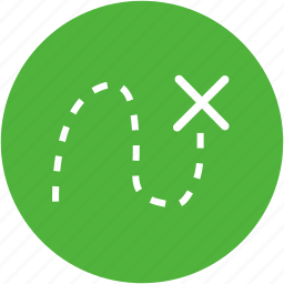 direction, find, location, path, route, way icon
