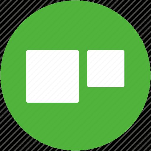area, comparison, proportion, proportions, scale, size icon