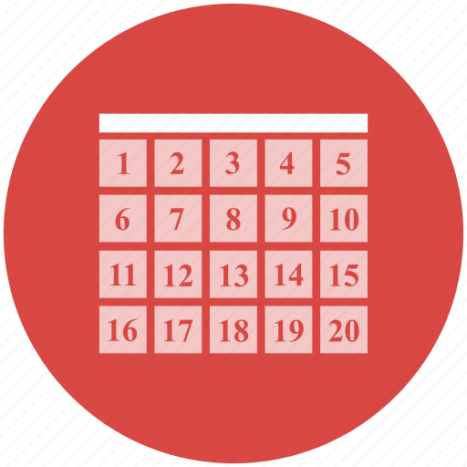 calendar, dates, month, planning, schedule, time icon