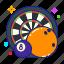 bar, billiards, bowling, darts icon