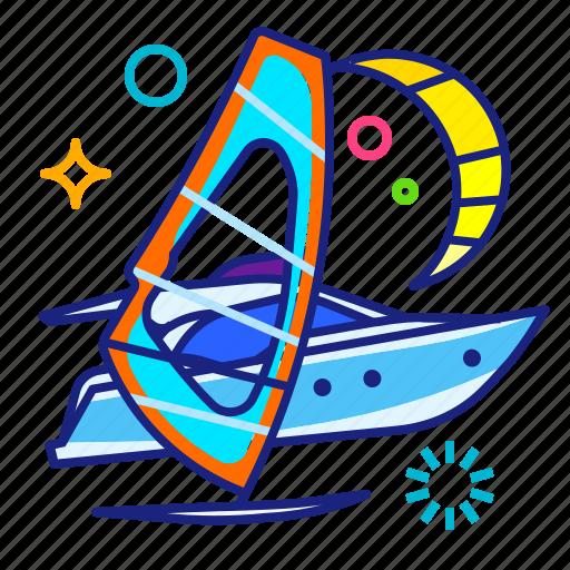 fitting, sea, windsurfing icon