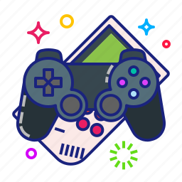 console, controller, gamepad, joystick icon